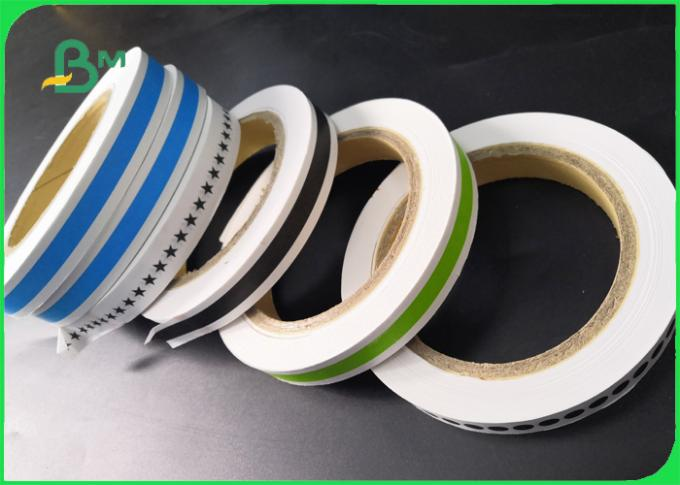 Biodegradable Food Grade Printed Straw Paper Roll Stripe color / Customized color