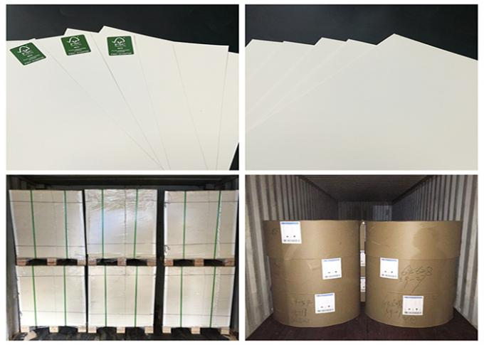 200gsm 250 gsm Pure Wood Pulp Glossy One Side Coated White Board For Cards
