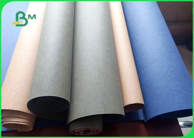 0.8mm Tough stiff wear resistant colorful washable kraft paper for bag