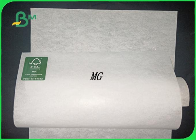 MG & MF 35gsm - 50gsm FSC supprot good strength white kraft paper for packing