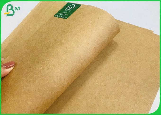 Uncoated 65*100CM Brown/ White Sack Food Kraft Papier with FSC and SGS Certified