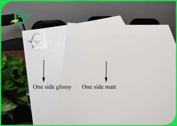 FSC Certified 250gsm / 270gsm C1S Ivory Board High Whiteness For Different Bags
