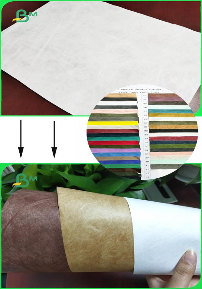 1070D White Color Tear Resistance Paper Environmental Material For Fashion Bags