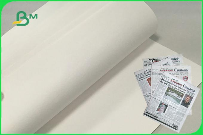 Double Sides Uncoated Jumbo Roll Newsprint Paper 48gsm 49gsm 50gsm For Newspaper