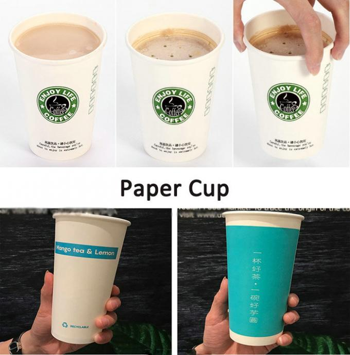 230 gsm + 15gsm PE Coated Waterproof White Kraft Paper For Paper Cup and Plates